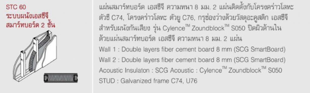 ระบบผนัง SCG สมาร์ทบอร์ด สองชั้น
